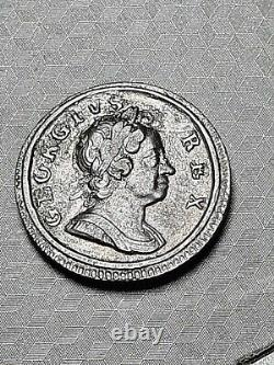 1717 Dump Farthing extremely fine grade coin George I Very Rare Great Britain