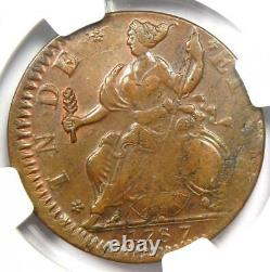 1787 Connecticut Mailed Bust Left Coin NGC MS61 (BU UNC) Very Rare Grade
