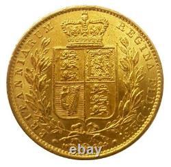 1849 Queen Victoria Shield Reverse Sovereign RARE VERY HIGH GRADE EXAMPLE