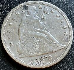1872 S Seated Liberty One Dollar $1 VERY RARE High Grade XF AU Details #20558