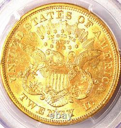 1873-S $20 Open 3 MS61 PCGS- VERY RARE-ONLY 5 IN HIGHER GRADE -LIBERTY HEAD