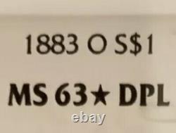 1883 O morgan silver dollar MS63DPL VERY RARE GRADE STARDPL CAMEODMPL