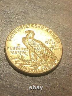 1912 $2.5 Gold Quarter Eagle Coin! High Grade! Very rare! Lustrous