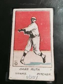 1920 W516-1 #1 Babe Ruth, SGC Grade 3 Very Good EXTRA RARE BAMBINO 100+ YEAR