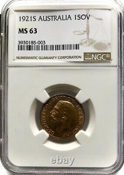 1921 Sydney Mint George V Gold Sovereign Very Rare Graded Example
