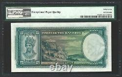 1939 GREECE 1000 Drachmai, P-110a, PMG SUPERB GEM UNC 67 EPQ, Very Rare Grade