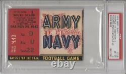 1942 Army Navy Football Ticket Stub PSA 6 Highest Grade! Very Rare