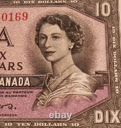 1954 Canada $10. RARE DEVIL FACE Banknote. Very High Grade