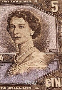 1954 Canada $5 Banknote. EXTREMELY RARE VERY LOW SERIAL NUMBER. VERY HIGH GRADE