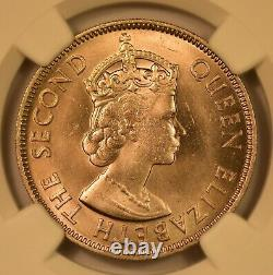 1957 Cyprus 100 Mils, Ngc Ms66, Very Rare In This Grade, Gem Unc