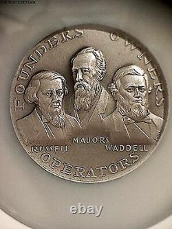 1960 Silver Pony Express Founders Medal! Ngc Graded Ms-69! Very Rare