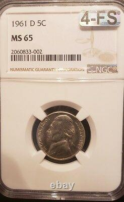 1961d Nickel Graded Ngc Ms65 Mac Cert. Four Full Steps! Very Very Rare With 4fs