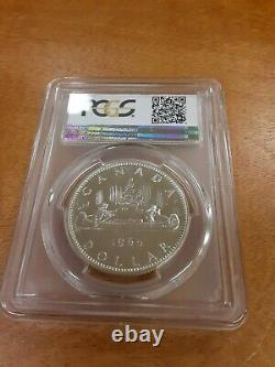 1965 Canadian Silver Dollar, type 1, Blt5, PCGS Graded PL67 $1, Very Rare
