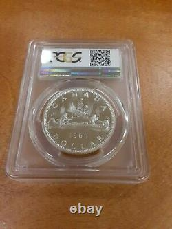 1965 Canadian Silver Dollar, type 1, Pt 5, PCGS Graded PL67 $1, Very Rare