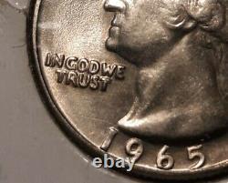 1965 Washington Quarter Doubled Die Obverse DDO FS-101 VERY RARE in High Grade