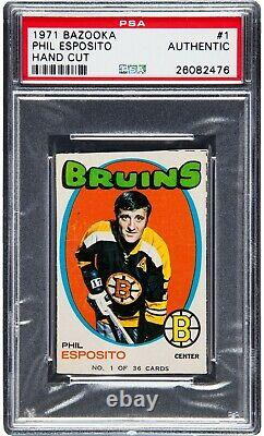 1971 Bazooka Phil Esposito #1 PSA Authentic Only Four Graded VERY RARE CARD