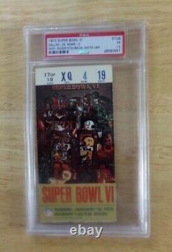 1972 Super Bowl VI COWBOYS VS DOLPHINS PSA 1.5 Graded Ticket Stub VERY RARE