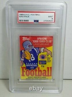 1989 OPC O pee chee Football Wax Pack Psa 9 Mint Very Rare Pack only 8 graded