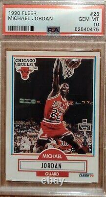 1990 Fleer #26 Michael Jordan PSA 10! NO LINE VERY RARE Graded PSA 10 GEM MINT