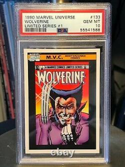 1990 Marvel Universe Wolverine #133 PSA 10 GEM MINT VERY RARE Very tough grade