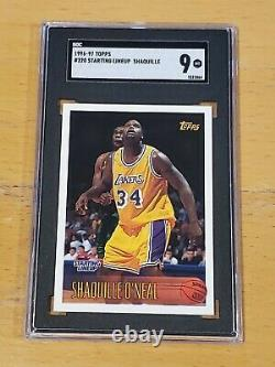 1996 Topps Starting Lineup Shaquille O'Neal SGC 9 Very Rare POP 1 for PSA also