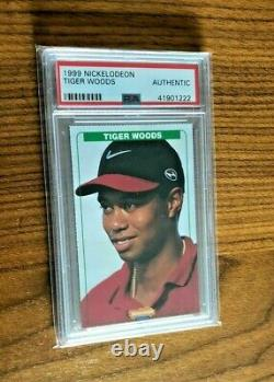1999 Nickelodeon TIGER WOODS PSA Graded Auth Very Rare
