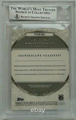 2013, Roberto Clemente, Game Used Relic Card, BGS 8.5 GRADED & VERY RARE