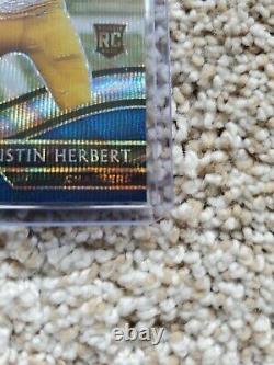 2020 Panini Select Justin Herbert Rookie Tri Color Field Level Very Rare Sp #/75