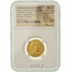 #900390 Münze, Magnus Maximus, Solidus, 383-388 AD, Trier, Very rare, graded