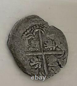 ATOCHA VERY RARE Genuine Coin 2 Reale Grade 1 Authentic Treasure COA