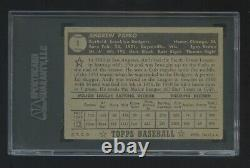 Andy Pafko 1952 Topps #1 Sgc Graded 40 Very Nice Looking Card All Around Rare