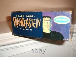 Aurora Frankenstein Model Unmade In MID Grade U. S Long Box Very Rare