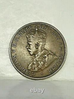 Australia 1919 Penny Double Dot. Rare Variety Type. , Nice Grade. Very Scarce