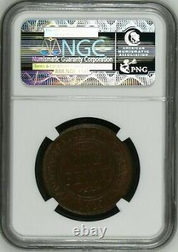 Australia 1919 Penny NGC MS64 BN dot below scroll rare in very high grades
