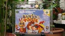 Banjo Tooie VGA 85+ N64 Graded Sealed Nintendo 64 Red Strip VERY RARE PAL