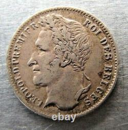 Belgium 1/4 Franc 1835 very nice grade. Rare