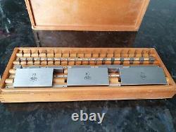 CARL ZEISS JENA Metric Gauge Block Set GRADE1 VERY RARE! 1950s DDR