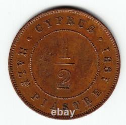 CYPRUS 1/2 piastre 1931 KM17 Br GV Better date HIGH GRADE mtg. 90,000 VERY RARE