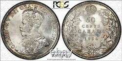 Canada 1934 50 Cents PCGS Certified MS64+ Gold Shield Very Rare in High Grade MS