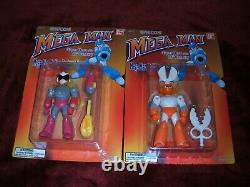 Capcom Bandai Megaman Set Of 6 Figures Factory Sealed High Grades Very Rare