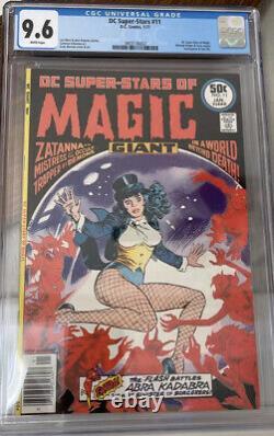 DC Super-Stars of Magic 11 CGC 9.6 Solo Zatanna Very Rare In High Grade