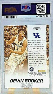 DEVIN BOOKER ROOKIE 2015 PANINI NATIONAL CRACKED ICE PSA 9 #ed/25 VERY RARE