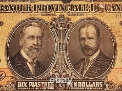 EXTREMELY RARE & VERY VALUABLE 1913 Banque Provinciale Du Canada $10. PMG Graded