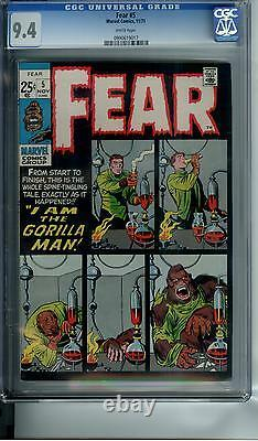 FEAR #5 CGC 9.4 OWW pages GORILLA MAN VERY RARE SQUAREBOUND IN HIGH GRADE
