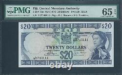FIJI $20 P75c ND(1974) PMG 65 EPQ Very rare in this grade