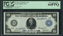 Fr944 $10 1914 Frn Dallas Pcgs 64 Ppq Very Choice Unc Rare Grade Wlm4877