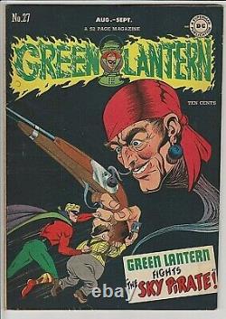 Green Lantern Comics # 27 F/VF 7.0 VERY RARE in High Grade! Debut of Sky Pirate