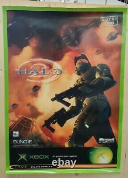 Halo 2 Very Rare Official Promo Poster 84x60cm A1 Xbox Original A Grade