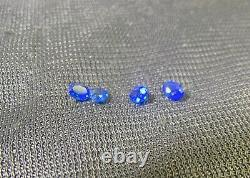 Hauynite Finest Grade Fluorescent Very Rare 4 Faceted Oval Gemstones 0.29 Tcw