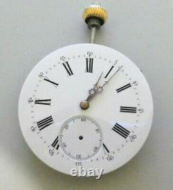 High grade pocket watch movement j. C working very rare 43mm (k83)